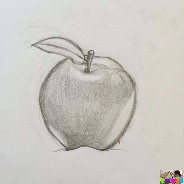 Dessin perspective la 39 dco conseils d coration dessin - Dessin d une pomme ...